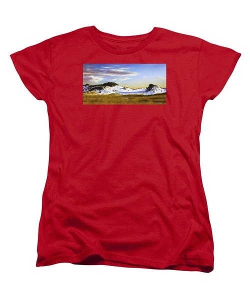 Women's T-Shirt (Standard Cut) featuring the painting Unwalked by Rick McKinney