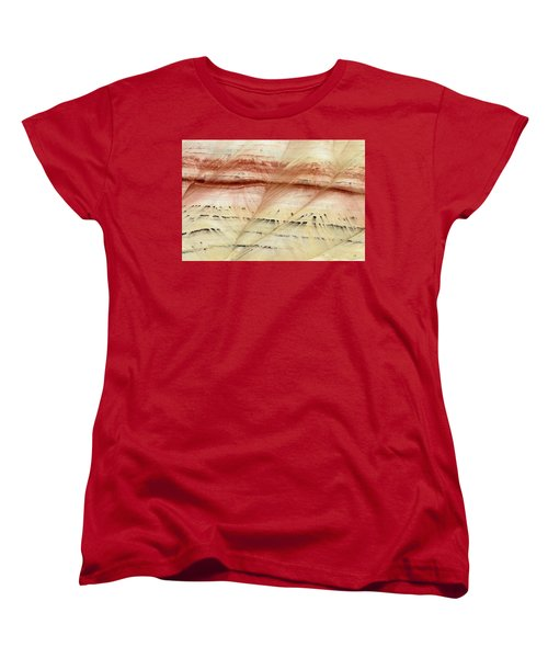 Women's T-Shirt (Standard Cut) featuring the photograph Up Close Painted Hills by Greg Nyquist