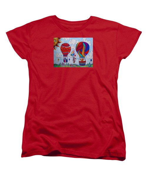 Up Up And Away Women's T-Shirt (Standard Cut) by Megan Walsh