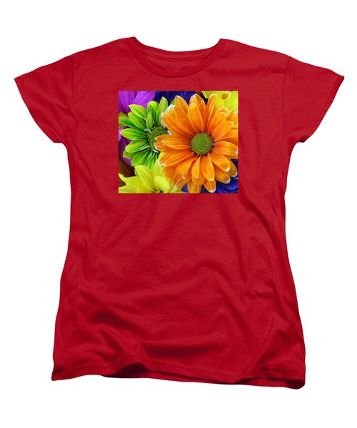 Upstaged By Orange Women's T-Shirt (Standard Cut) by Angelina Vick