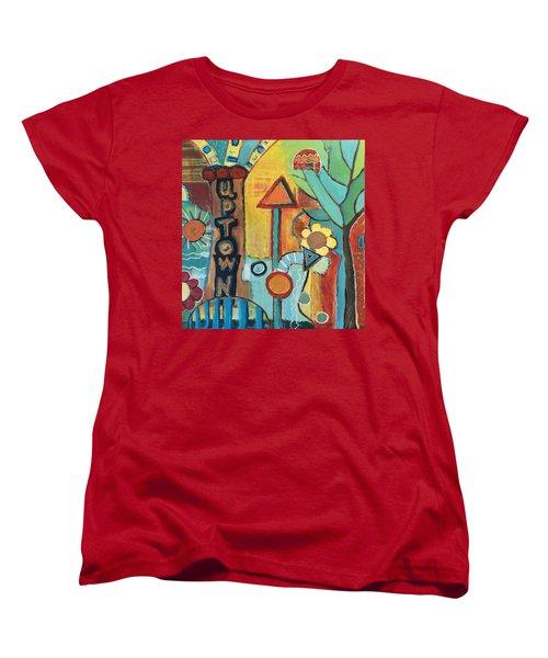 Uptown Dream World Women's T-Shirt (Standard Cut) by Susan Stone