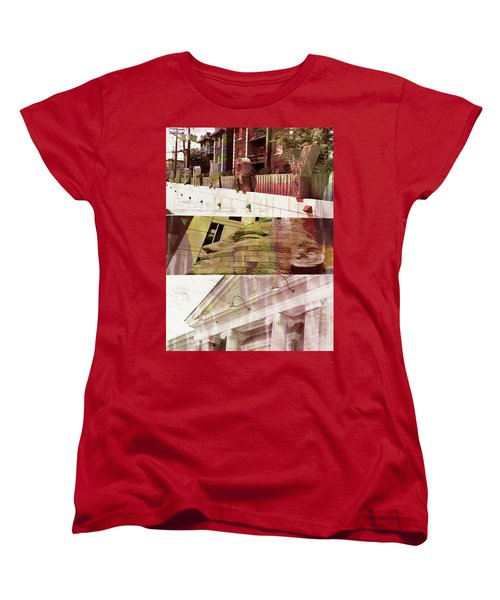 Women's T-Shirt (Standard Cut) featuring the photograph Uptown Library With Color by Susan Stone