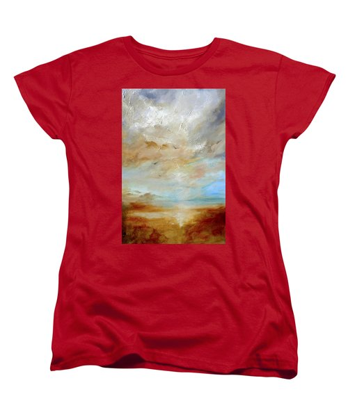 Women's T-Shirt (Standard Cut) featuring the painting Upwardly Mobile by Dina Dargo
