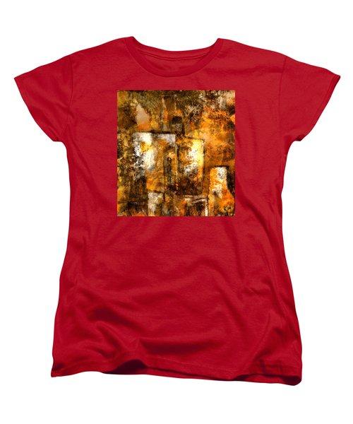 Women's T-Shirt (Standard Cut) featuring the mixed media Urban #3 by Kim Gauge