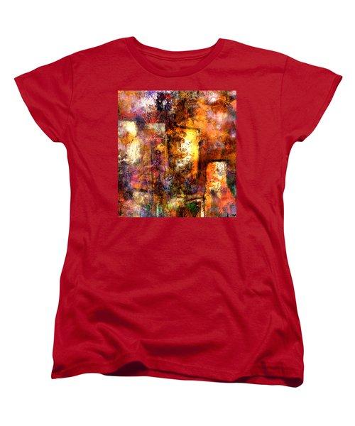 Women's T-Shirt (Standard Cut) featuring the mixed media Urban #4 by Kim Gauge