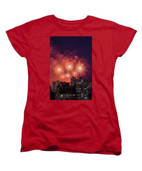 Usa 3 Women's T-Shirt (Standard Cut) by Ross G Strachan