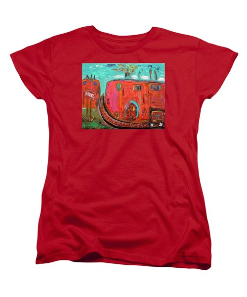 Usa Steel Still Fascinates Women's T-Shirt (Standard Cut) by Mary Carol Williams