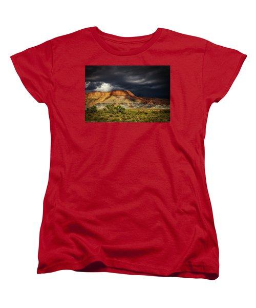 Utah Mountain With Storm Clouds Women's T-Shirt (Standard Cut)