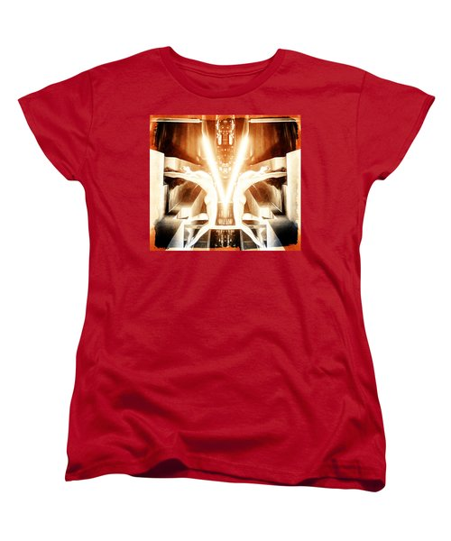 Women's T-Shirt (Standard Cut) featuring the digital art V For Victory by Andrea Barbieri