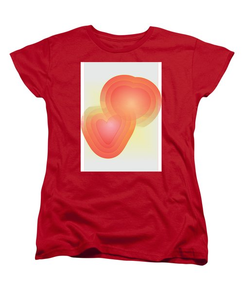 Women's T-Shirt (Standard Cut) featuring the digital art Valentine by Sherril Porter