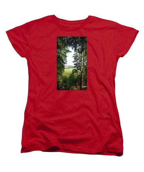 Valley View Women's T-Shirt (Standard Cut) by Anne Kotan