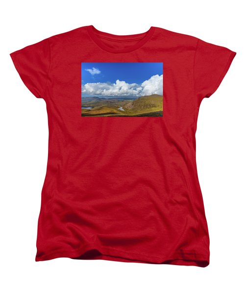 Women's T-Shirt (Standard Cut) featuring the photograph Valleys And Mountains In County Kerry On A Summer Day by Semmick Photo