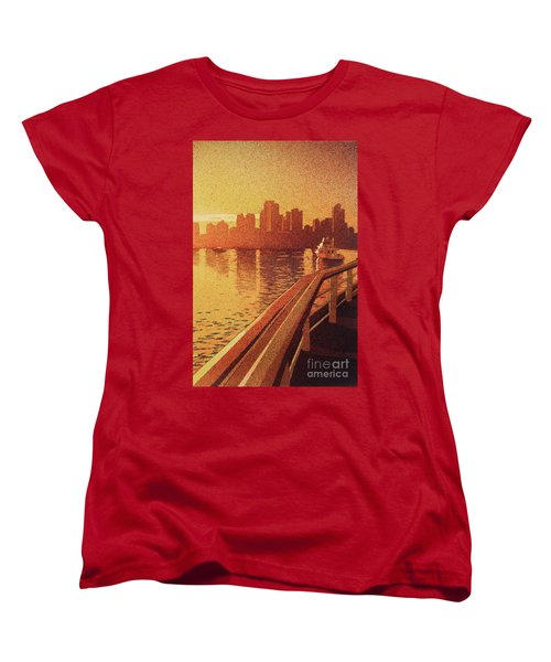 Women's T-Shirt (Standard Cut) featuring the painting Vancouver Morning- Bc by Ryan Fox