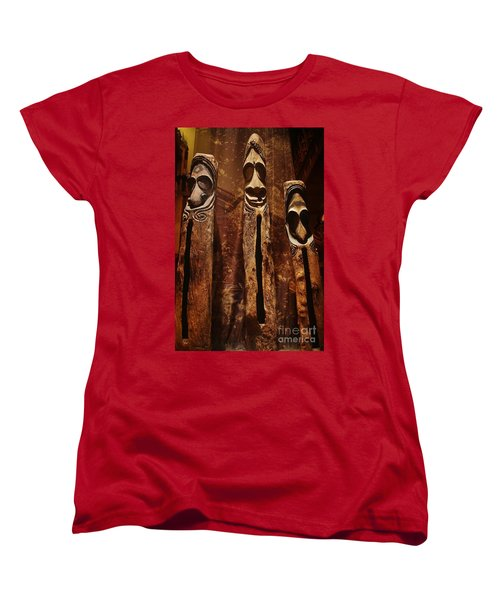 Women's T-Shirt (Standard Cut) featuring the photograph Vanuatu Trio by Craig Wood