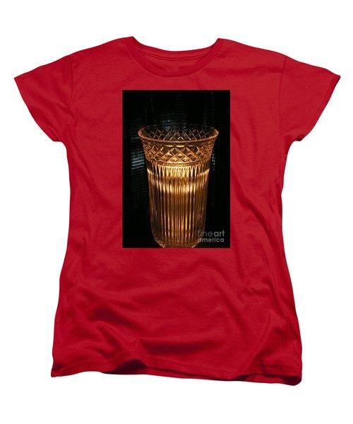 Vase In Amber Light Women's T-Shirt (Standard Cut) by Marie Neder