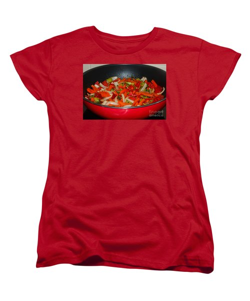 Vegetable Stir Fry By Kaye Menner Women's T-Shirt (Standard Cut) by Kaye Menner