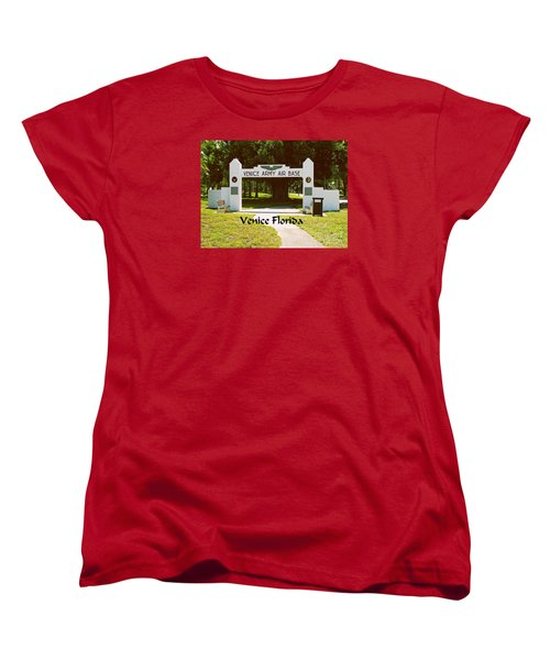Women's T-Shirt (Standard Cut) featuring the photograph Venice Army Air Force by Gary Wonning