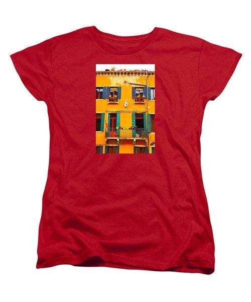 Venice Street Scene 1 Women's T-Shirt (Standard Cut) by Richard Ortolano