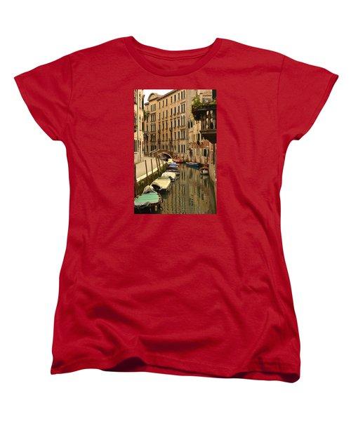 Venice Street Scene 2 Women's T-Shirt (Standard Cut) by Richard Ortolano