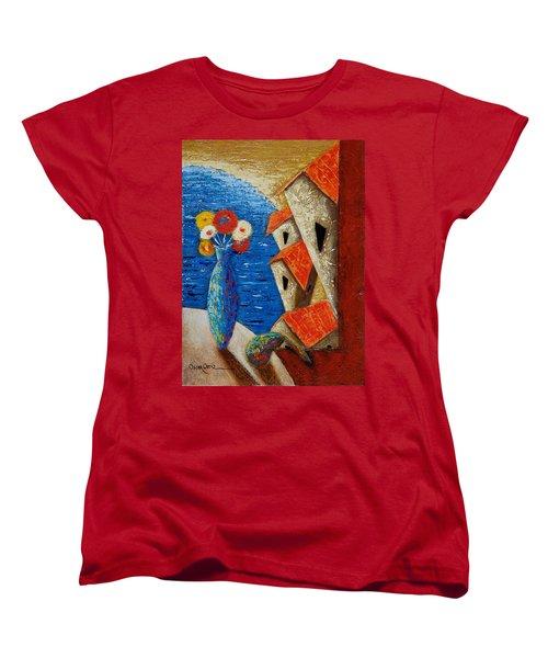 Ventana Al Mar Women's T-Shirt (Standard Cut) by Oscar Ortiz