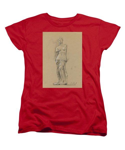 Venus De Milo Women's T-Shirt (Standard Cut) by Juan Bosco