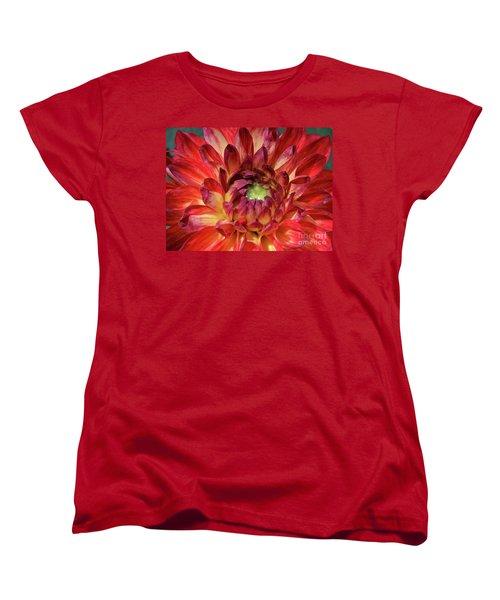 Variegated Dahlia Beauty Women's T-Shirt (Standard Cut) by Debby Pueschel