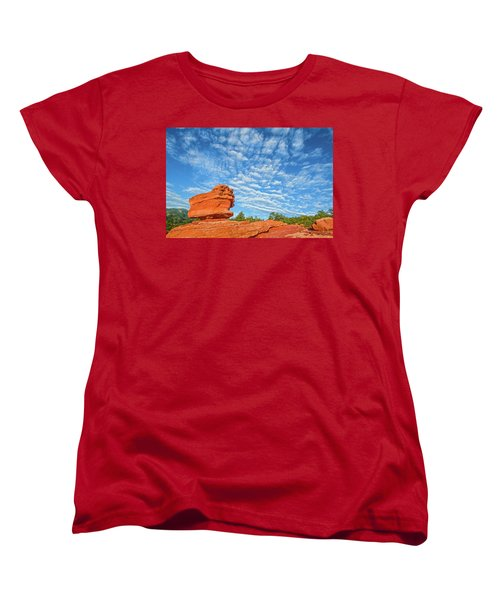 Vermillion Is The Color Of The Rock.  Women's T-Shirt (Standard Cut) by Bijan Pirnia