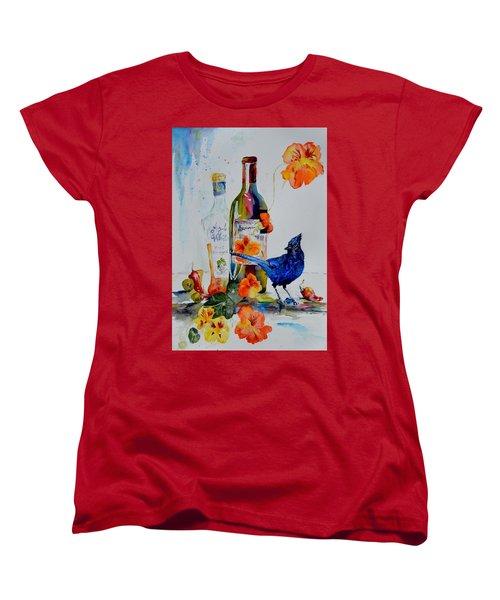 Still Life With Steller's Jay Women's T-Shirt (Standard Cut) by Beverley Harper Tinsley
