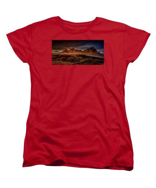 Vestrahon With Sunglow Women's T-Shirt (Standard Cut) by Allen Biedrzycki