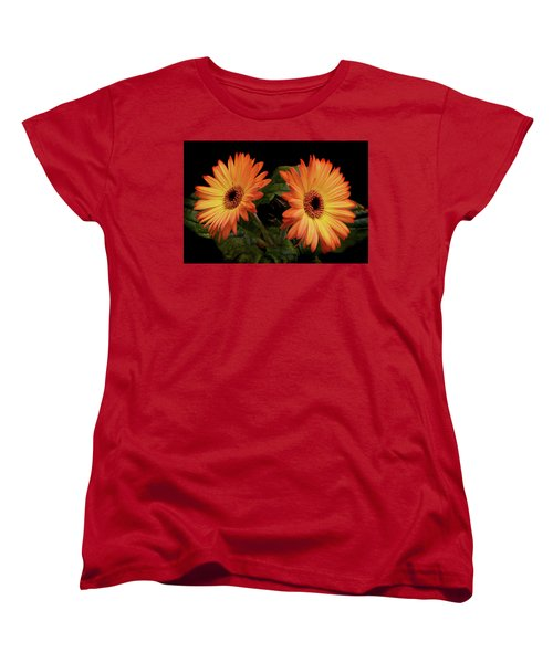 Women's T-Shirt (Standard Cut) featuring the photograph Vibrant Gerbera Daisies by Terence Davis