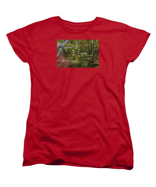 Women's T-Shirt (Standard Cut) featuring the photograph View Of The Mill River by Margie Avellino