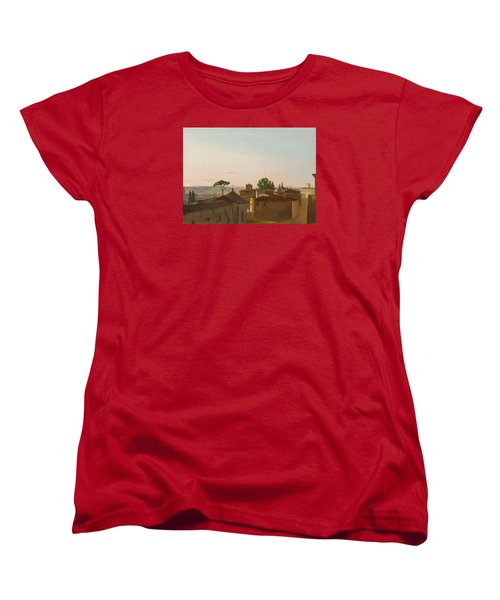 Women's T-Shirt (Standard Cut) featuring the painting View On The Quirinal Hill. Rome by Simon Denis