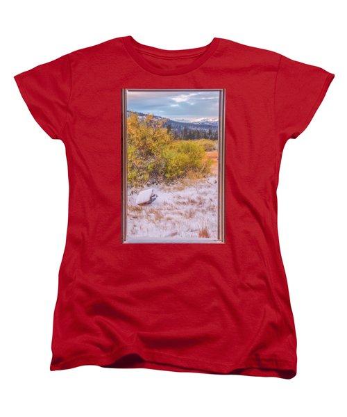 View Out Of A Broken Window Women's T-Shirt (Standard Cut) by Marc Crumpler