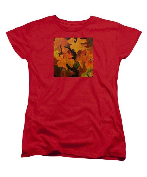 Vine Leaves Women's T-Shirt (Standard Cut) by John Stuart Webbstock