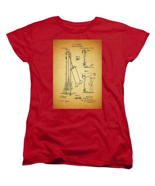Vintage 1885 Exercising Device Patent Women's T-Shirt (Standard Cut) by Dan Sproul