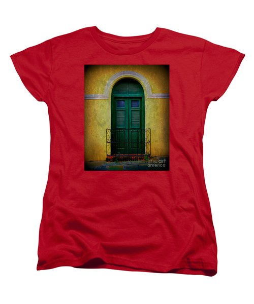 Vintage Arched Door Women's T-Shirt (Standard Cut) by Perry Webster