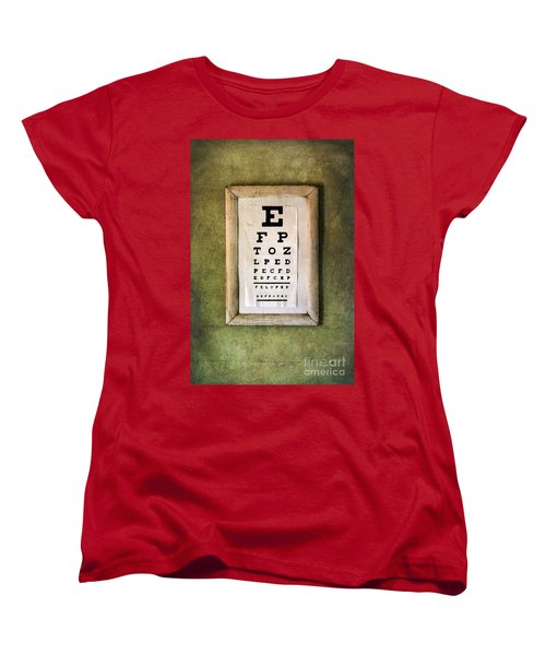 Vintage Eye Chart Women's T-Shirt (Standard Cut) by Jill Battaglia