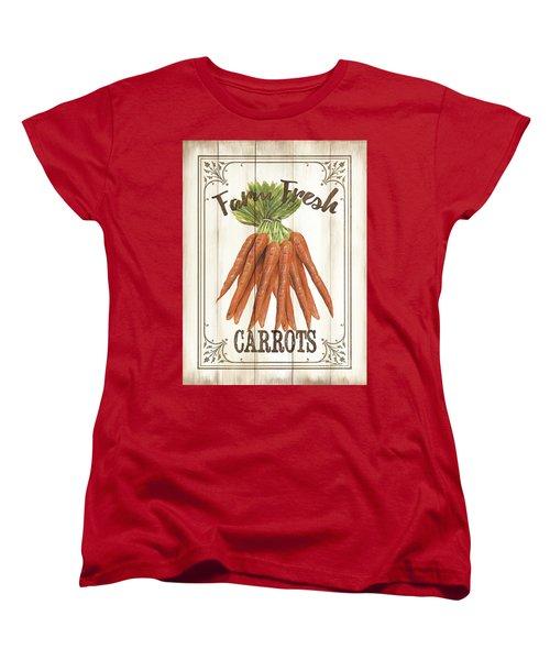 Women's T-Shirt (Standard Cut) featuring the painting Vintage Fresh Vegetables 3 by Debbie DeWitt