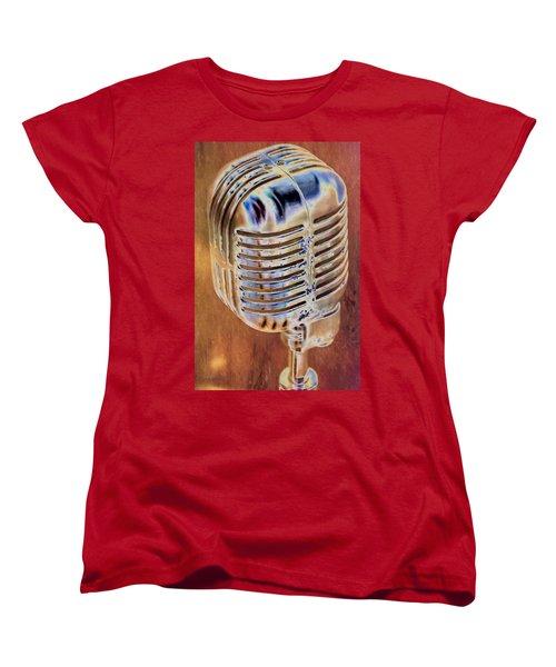 Vintage Microphone Women's T-Shirt (Standard Cut) by Pamela Williams