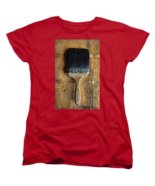 Vintage Paint Brush Women's T-Shirt (Standard Cut) by Jill Battaglia