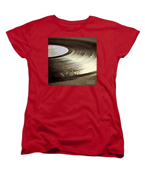 Vinyl Record Women's T-Shirt (Standard Cut) by Lyn Randle