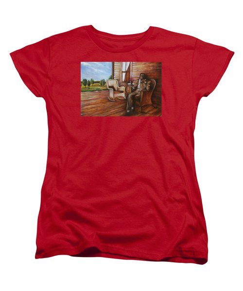Women's T-Shirt (Standard Cut) featuring the painting Violin Man by Emery Franklin