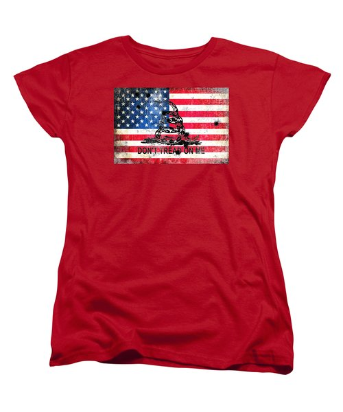 Viper N Bullet Holes On Old Glory Women's T-Shirt (Standard Cut) by M L C
