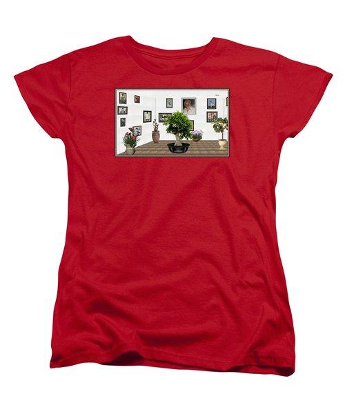 Women's T-Shirt (Standard Cut) featuring the mixed media Virtual Exhibition -  Bonsai 13 by Pemaro
