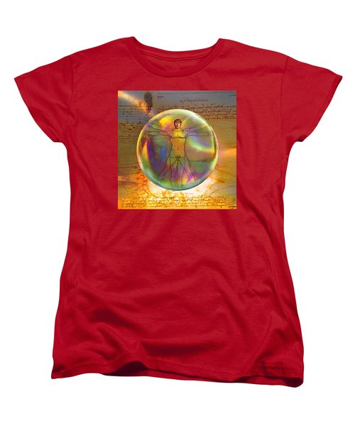 Women's T-Shirt (Standard Cut) featuring the digital art Vitruvian Vulcan by Robin Moline