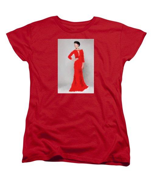 Women's T-Shirt (Standard Cut) featuring the digital art Vivienne by Nancy Levan