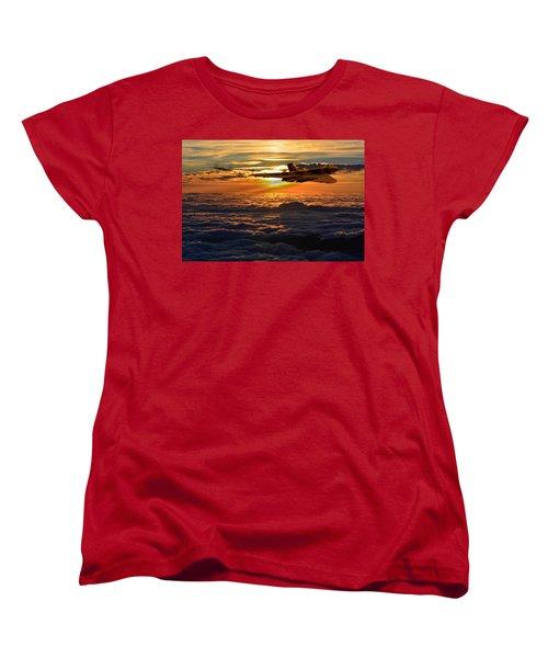 Vulcan Bomber Sunset 2 Women's T-Shirt (Standard Cut) by Ken Brannen