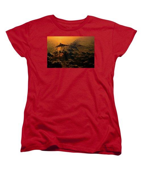 Vulcan Bomber Sunset Women's T-Shirt (Standard Cut) by Ken Brannen