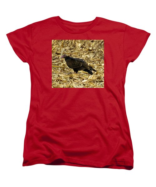 Vulture In The Corn Field  Women's T-Shirt (Standard Cut) by Keith Stokes