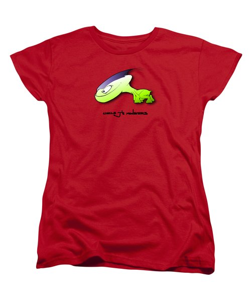 Women's T-Shirt (Standard Cut) featuring the drawing Waggah by Uncle J's Monsters